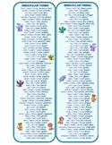 120 Irregular Verbs Bookmark (present, past and participle form, French-option)