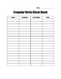 Irregular Verbs Cheat Sheet