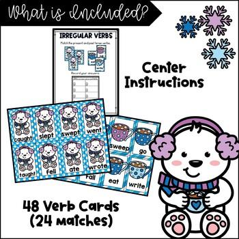 Irregular Verbs (Winter themed matching activity}