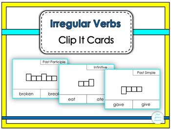 Irregular Verbs Clip It Cards