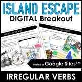 Irregular Verbs Escape : Past Tense Verbs Digital Activity