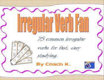 Irregular Verbs Fan 1