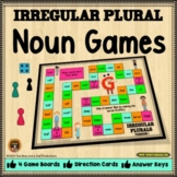 Irregular Plural Nouns Game with 4 Versions