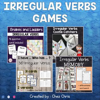 Irregular Verbs Games - BUNDLE