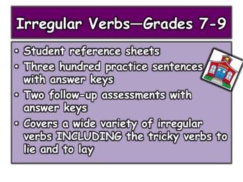 Irregular Verbs—Grades 7-9