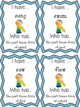 Irregular Verbs: I Have, Who Has