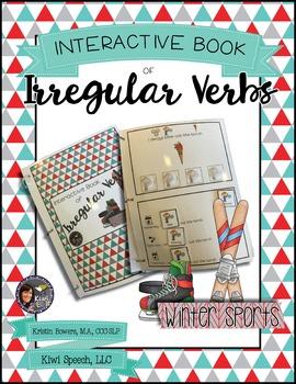 Irregular Verbs Interactive Book {WINTER SPORTS}
