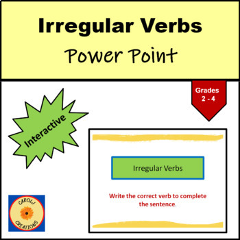 Irregular Verbs Interactive PowerPoint