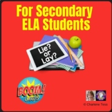 Troublesome Verbs Lie and Lay Boom Cards | Distance Learning
