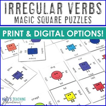 Irregular Verbs Game, Literacy Center, or Worksheet Alternative