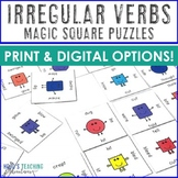 Irregular Verbs Game or Math Center | Irregular Verbs Work