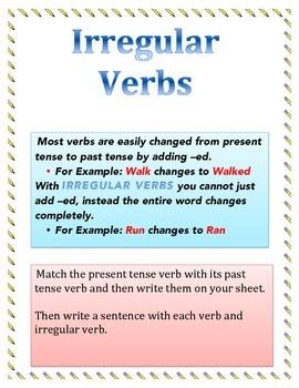 Irregular Verbs Match