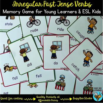 Irregular Past Tense Verbs Memory Game
