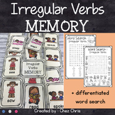 Irregular Verbs Memory Game + Word Search Activity