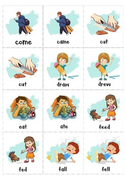 Irregular Verbs Memory Game