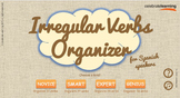 Irregular Verbs Organizer for Spanish Speakers - for Mobile Devices