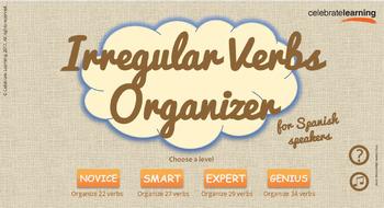 Irregular Verbs Organizer for Spanish Speakers - Win PC & Interactive Whiteboard