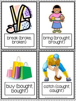 Flashcards Irregular Verbs Part 1