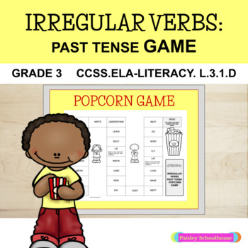 Irregular Verbs Past Tense GAME: Popcorn