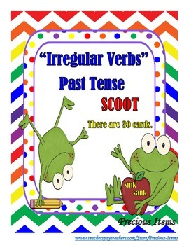 """Irregular Verbs""  Past Tense Scoot Game"