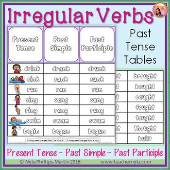 table of irregular verbs in english pdf
