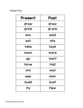Irregular Verbs: Past and Present