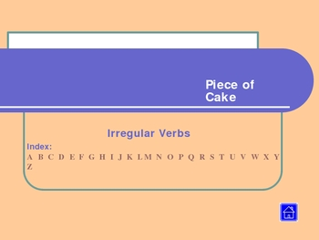Irregular Verbs - Piece of Cake, pps, Guided Verb Search