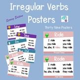 Irregular Verbs Posters - Spring Themed