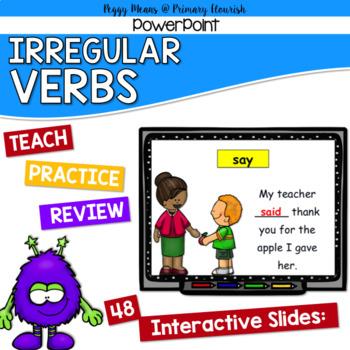 Irregular Verbs  Grammar PowerPoint -- Monster Mash