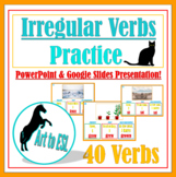 Irregular Verbs with Pictures ELL ESL --- PowerPoint & Goo