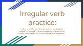 Irregular Verbs Powerpoint