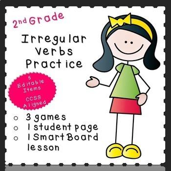 Irregular Verbs Practice-EDITABLE! (second grade)