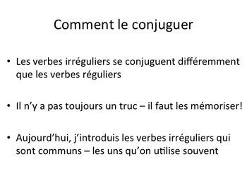 Irregular Verbs (Present Tense)