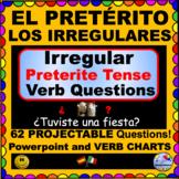IRREGULAR Preterite Verbs - Preterite Verb QUESTIONS for Spanish Class! ¡Olé!