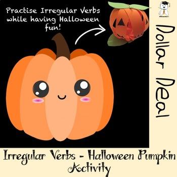 Irregular Verbs - Halloween Pumpkin Activity #Halloween2017
