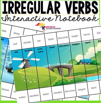 Irregular Verbs Game Puzzles - Editable Present, Past, Past Participle