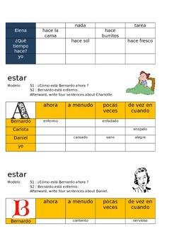 Irregular Verbs SPN Charts Igex