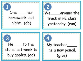 Irregular Verbs Scoot