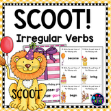 Irregular Verbs Task Cards Scoot Game