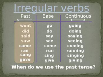 Irregular Verbs-Selecting