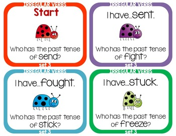 Irregular Verbs - I Have Who Has Game - Set 3