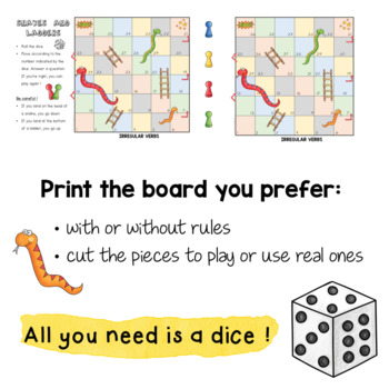 Snakes and Ladders - Irregular Verbs Game