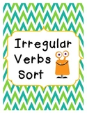 Irregular Verbs Sort Common Core Aligned