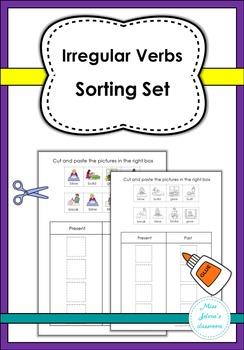 Irregular Verbs Sorting Set