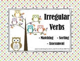 Irregular Verbs Sorting and Matching (Owl Theme)