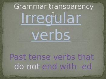 Irregular Verbs - Speaking