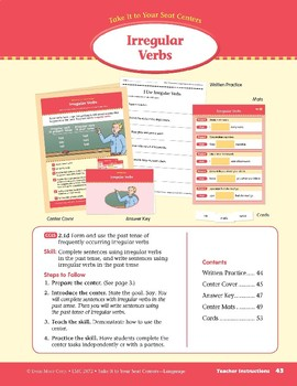 Irregular Verbs (Take It to Your Seat Centers: Common Core Language)