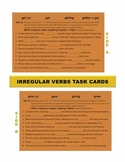 Irregular Verbs Task Cards