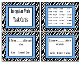 Irregular Verbs Task Cards (24 irregular past tense verbs)