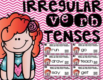 Irregular Verbs Task Cards